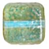 Glass Bead Squares 8mm Two-Tone Sugar Topaz/Aqua - Strung